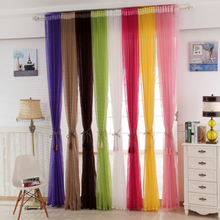 China supplier colorful fancy sheer fabric curtain cheap wholesale price