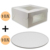 "10""x10""x5"" Bakery box creative design folding paper box cardboard food packaging box"