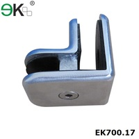 EKOO Stainless steel wall mounted glass clamps for stairs