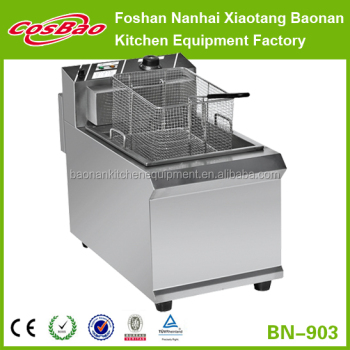 Counter top stainless steel commercial electric deep fryer BN-903