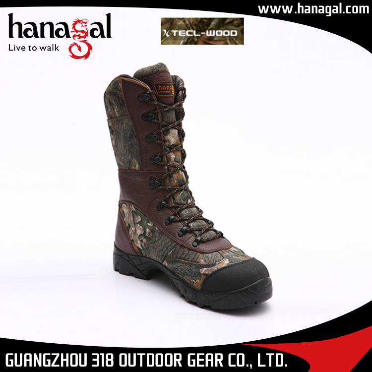 Best Quality Camouflage Breathable Nylon Mesh Non Slip Rubber Outsole Camo Hunting Boots