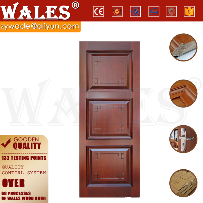 Guangdong door manufactory offer engineered wood ferforje doors