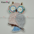 Custom Design High Quality 3D Rhinestone Beads Embroidery Patch WEFB-574