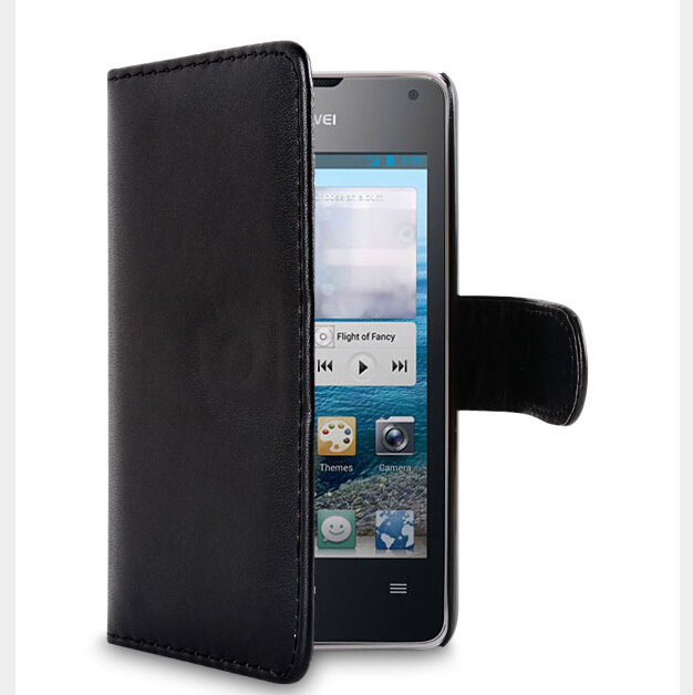 flip leather slim case for huawei ascend p6, leather case for huawei ascend p6
