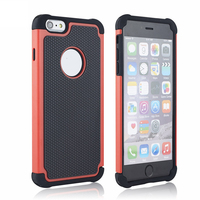 11 Colors hot cover Mobile Phone Case for iPhone 6 Plus Football Grain Shell Case Silicone+PC Smart Cover