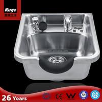 Stainless steel sink for barber