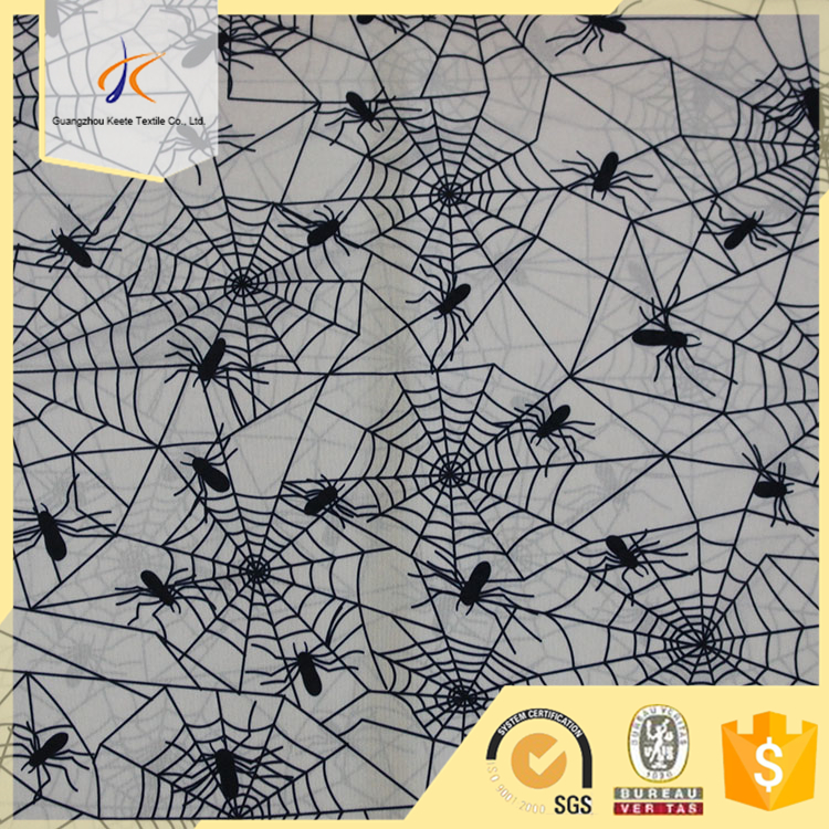 Wholesale alibaba China factory cheap price spiders graphic cotton textile printed fabric