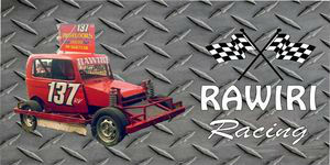 RAWIRI Racing on Diamond Plate Photo License Plate