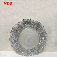 Wholesale silver designer anchor clear glass charger plate side