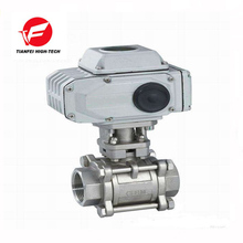 4-20ma 220V SS304 dn25 dn40 electric 3 pc ball valve