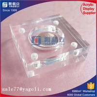 Promotioanl gift christmas card display holder acrylic coin holder stand