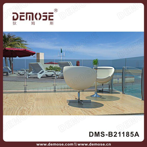 outdoor railing kits/balcony fencing/ tempered glass railing