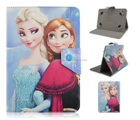 PU Leather Case For iPad or universal tablet With famous Ice Queen