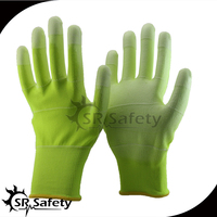 SRSAFETY 13G U3 polyester glove pu ESD anti women industry used gloves