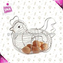 Chrome Chicken Shape Metal Egg Basket