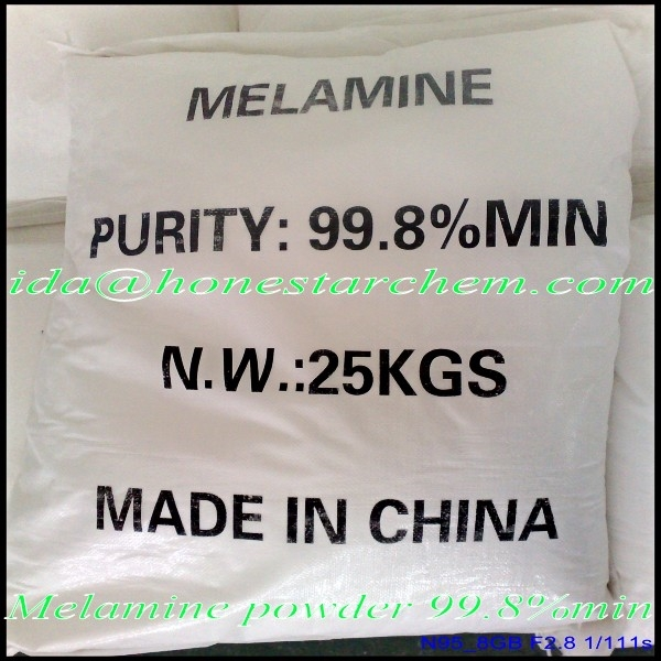 China White Powder Melamine 99.8% and Melamine Powder Formaldehyde Resin Powder