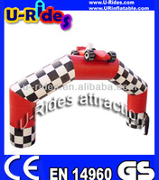 Racing car inflatable arch