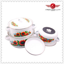High-quality porcelain European Camping Enamel Cookware