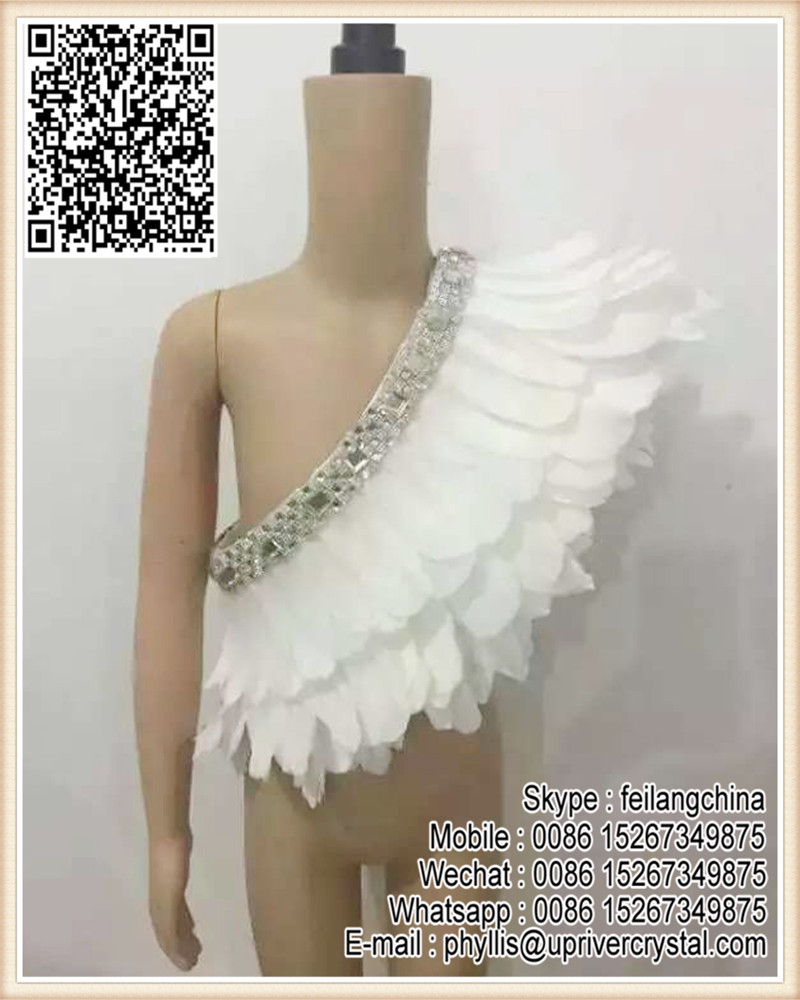White Girl Skirt Costume Child Goose Feather Shawl Clothing