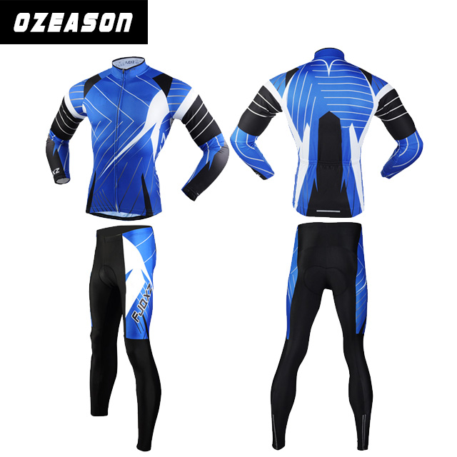 Sublimation printed customized Long sleeve winter cycle clothing