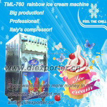 TML760 big production rainbow soft ice cream machine for sale