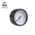 Steam black steel & brass pressure gauge