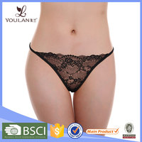 Wholesale Fashionable Mature Lady Transparent Seamless Thong
