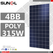 315 watts solar panel photovoltaic with 5kw automatic solar tracking system mounting