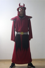 Halloween party costume ox horn hooded robe with high quality