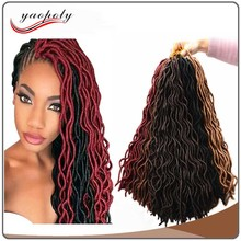 Wholesale alibaba express faux locs crochet 18 inch braid dreadlock hair extensions crochet hair Soft dread Locs hair weave