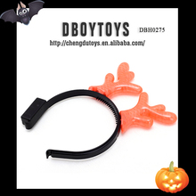 Hot party set plastic flashing horn headwear for playing