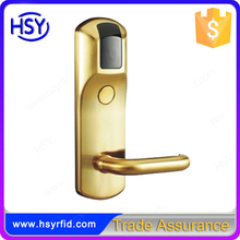 HSY-318 Hotel entrances door handle Zinc alloy rfid hotel locks