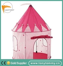 EASTONY Girls Pink Princess Castle Play Tent, Children Play Tent for Girls, Glow in the Dark Stars