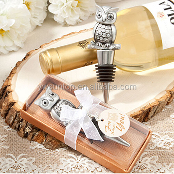 Owl Design Wine Bottle Stopper Party Favors