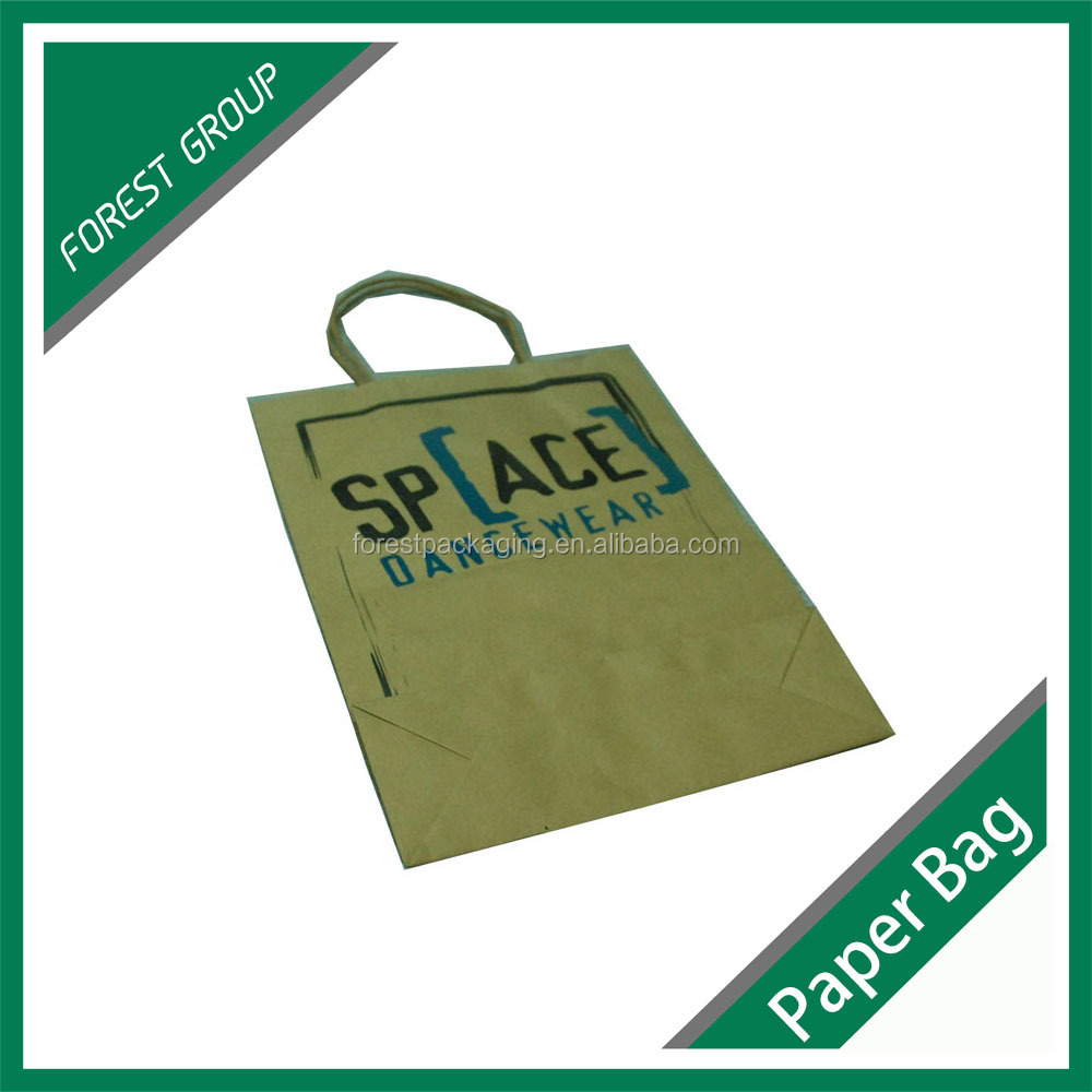 BROWN KRAFT PAPER BAG WITH HANDLE PAPER BAG FOR PACKING CLOTHES
