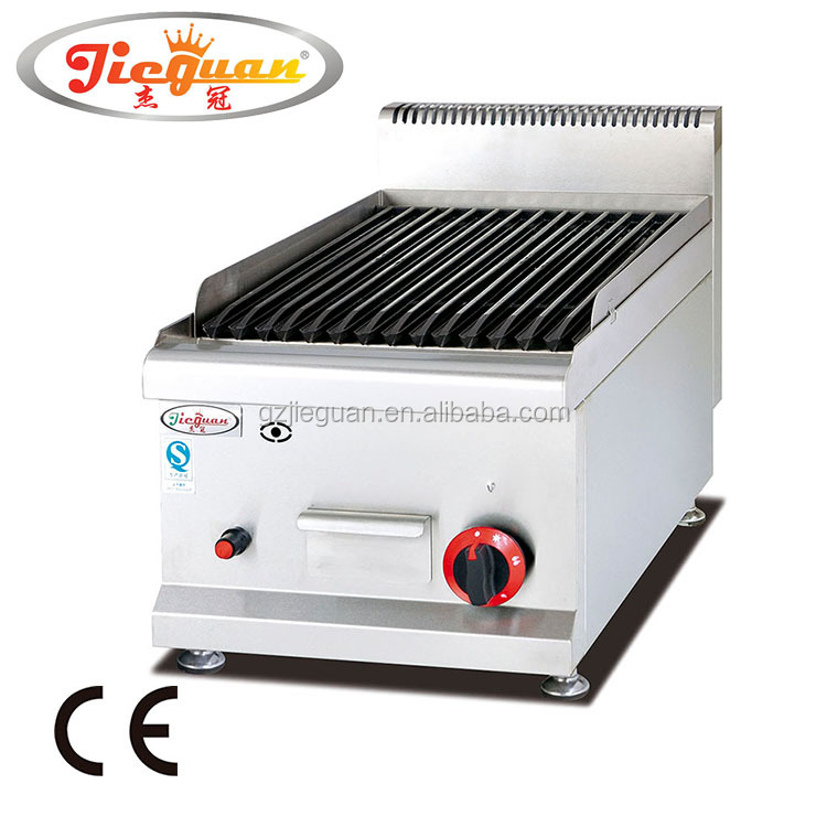 Counter top gas lava rock grill GB-539