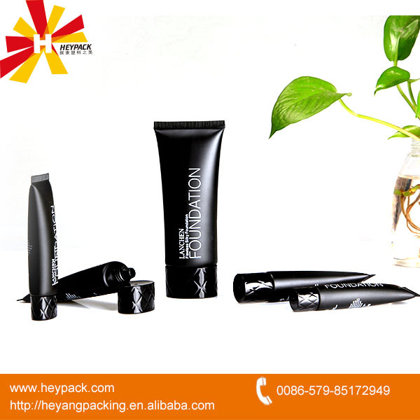 new design cap plastic oval cream black tube