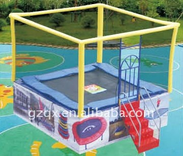 Hight quality used rectangle trampolines with enclosure for sale