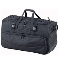 Large Heavy Dive Gear Roller Duffle Bag in Black