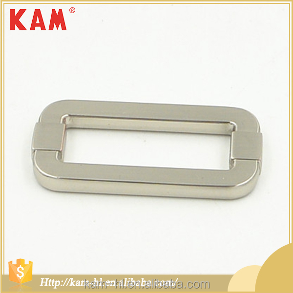 Wholesale factory made adjustable shoulder strap metal belt buckle slide