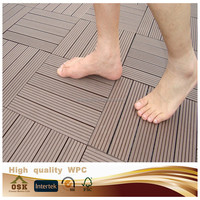 2015 hot sale 300*300mm*22mm diy decking board outdoor wpc diy flooring made in china