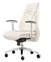 Hot sell fashionable New style chrome paint recline office conference chair with PU leather YS1306B