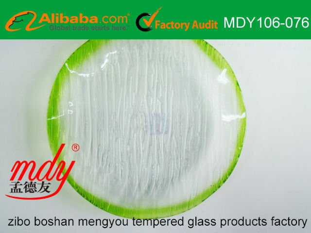 Color Edge Clear/Transparent Glass Plate