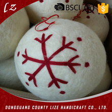 Best selling christmas products christmas decoration big wool ball