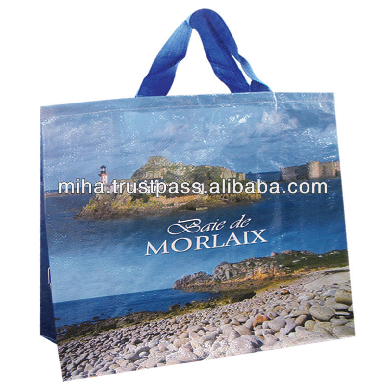 Beautiful PP woven shopping bag with lamination