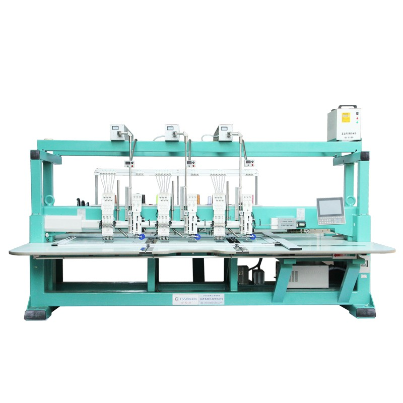 Computerized coiling mixed embroidery machine with lacer cutting