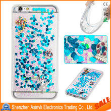 TPU Liquid Cool Quicksand Moving Stars Crown Bling Glitter Crystal Bling Case for iPhone 7 Plus