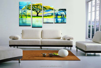 Hot selling custom two elephants canvas painting on frame