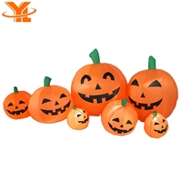 Happy Pumpkin Family, LED Lights Halloween Inflatable Pumpkin Decoration for Indoors or Outdoors