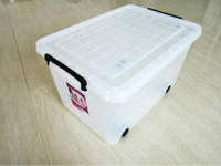 38L plastic pp material file storage box with wheels